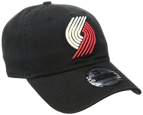 - New Era NBA Portland Trail Blazers Core Classic 9Twenty Adjustable Cap, Black, One Size