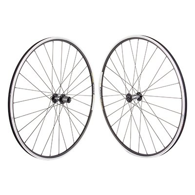 WHEEL MASTER WHEELS 700C Alloy Road Double Wall 700 SET 13 QR Blk MSW WTB Freedom Racine Elite Shi RS400 100 - 130 Blk 8-11s Cass RIM DT-2.0 SS BK 28H Dbl PV by WheelMaster