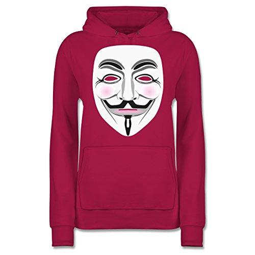 Shirtracer Nerds Amp Geeks Anonymous Maske Hacker Damen Hoodie