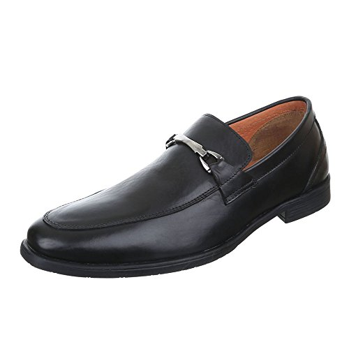 Ital-Design , Chaussures à lacets homme Schwarz