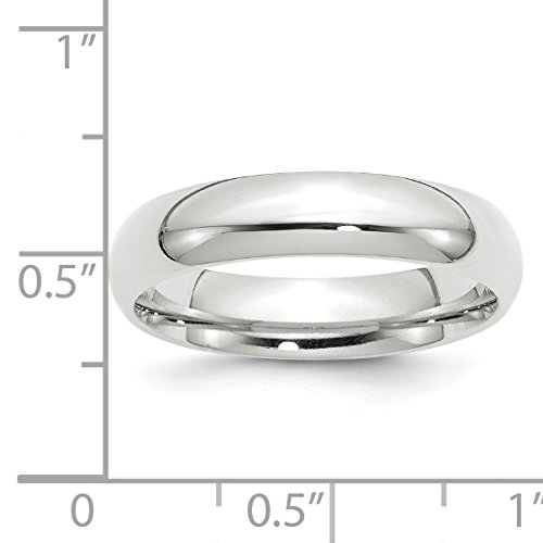 14k White Gold 5mm Standard Comfort Fit Band Size 14 by Saris and Things (Image #4)