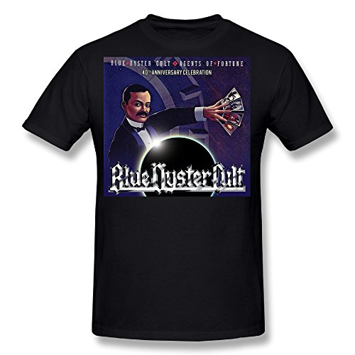 Flesiciate1 Man Blue Oyster Cult Agents of Fortune Cover Design Size M T-Shirt