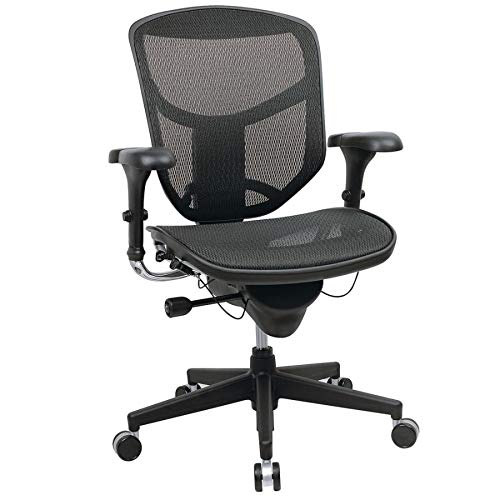WorkPro Quantum 9000 Series Ergonomic Mid-Back Mesh/Mesh Chair, Black by WORKPRO