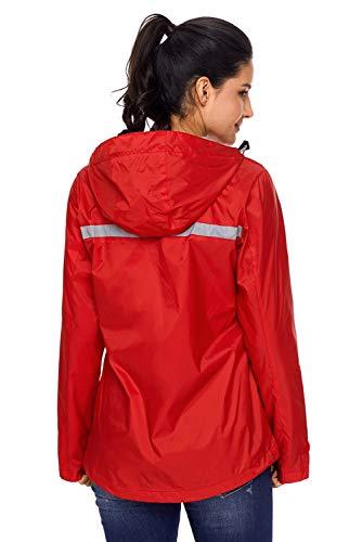 Zip colore Alpinismo Lunghe Con Autunno Green Cappuccio Magliette Xl E Maniche A Donna Xxl Dimensione Light Red Giacca Elegante Da Rose vEBwxqCC6