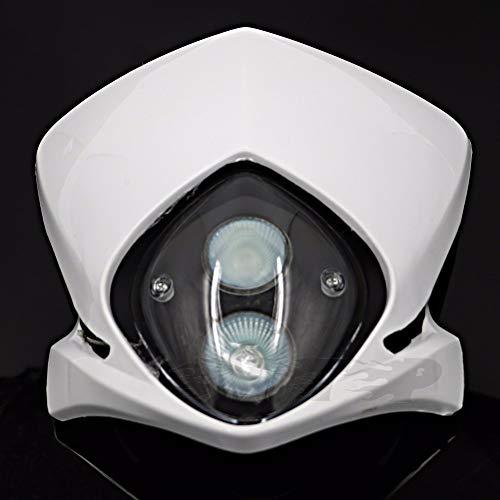 Jonathan-Shop - Universal Double Headlight Headlamp For Dual Sport EXC MXC SMR 525 450 520 SX 530 MX Dirt Bike Dual Sport Enduro Off Road