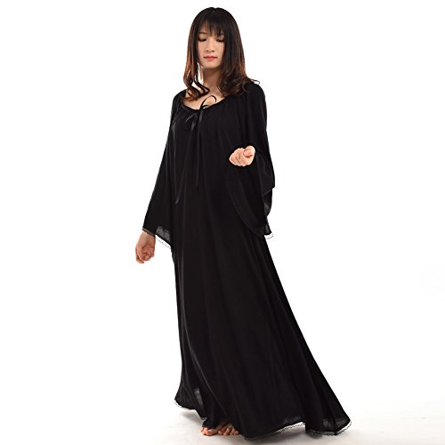 BLESSUME Medieval Renaissance Women Gown Dress Black