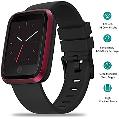 Meteor fire Bluetooth Smart Band Wristband 1 29 Inch IPS Color Display Fitness Tracker IP67 Waterproof Blood Pressure Heart Rate Monitor Pedometer Red Estimated Price £49.70 -