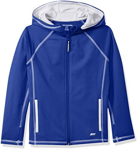 Amazon Essentials   Boys' Full-Zip Active Jacket, Blue, S - Jackets Essential Blue