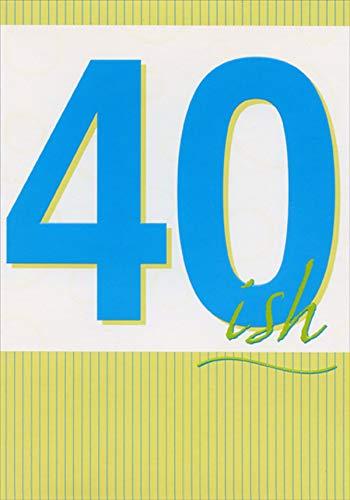 Amazon.com: Tarjeta de felicitación de cumpleaños 40º con ...