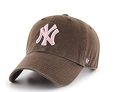 New York Yankees '47 Brand Women's Clean Up Adjustable Hat - Brown by 47 Brand, LLC