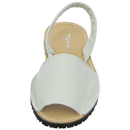Tamaris - Sandalias de vestir de Piel para mujer 36 Blanco - blanco