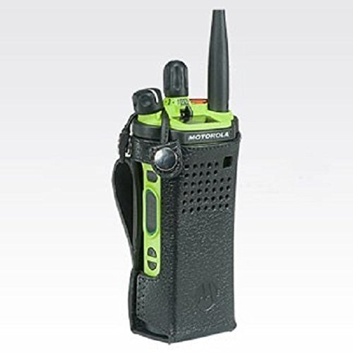 Radio Not included 5558994694 PMLN5876 Motorola Leather Carry Case with 3 fixed belt loop for short batteries