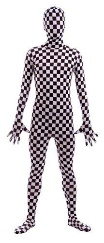 Spandex Costume Tuta Mosaico Zentai Pieno Sheface wAnxHFqYY