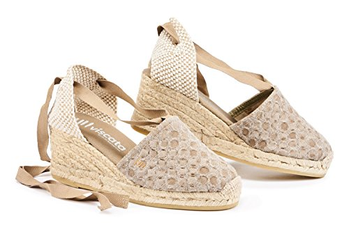 Espadrilles 2 Soft Heel Toe Made Tie Escala Bubblemauve Spain Ankle in Classic Heel Mauve VISCATA 5