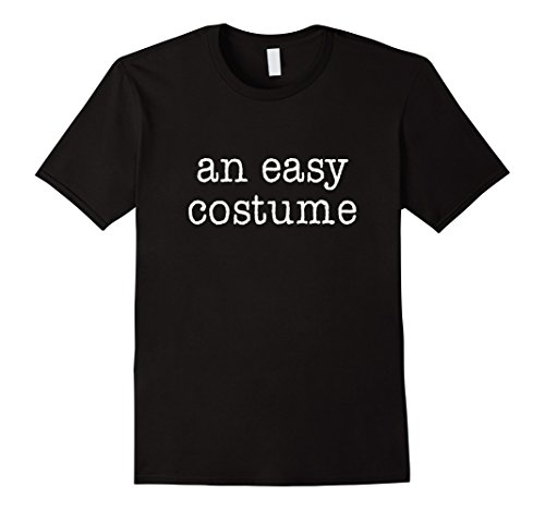 Funny Halloween Costumes Easy (Mens Halloween Easy Costume Funny T-Shirt Large Black)