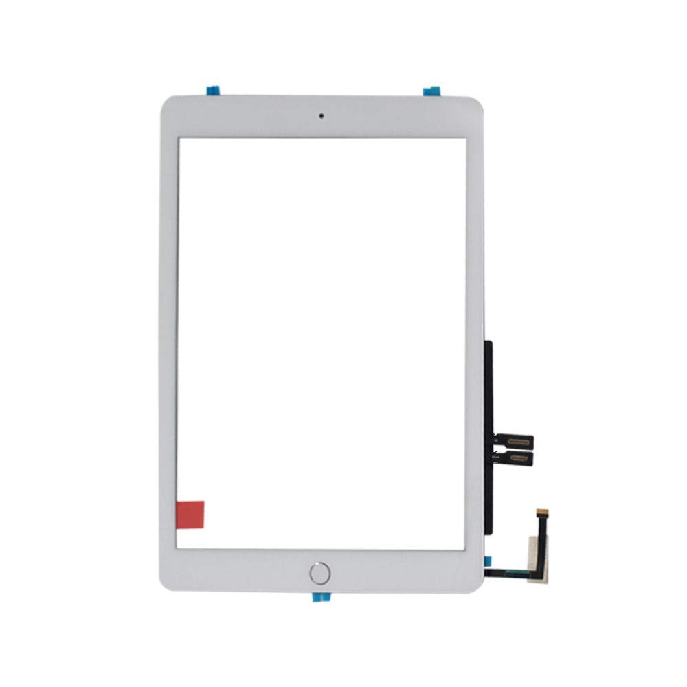 Touch Screen Digitizer Replacement with Home Button for 2018 iPad 6th Gen A1893 A1954 White