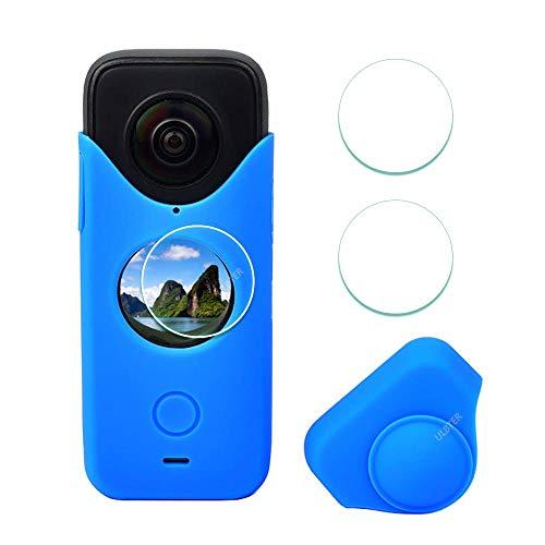 funda + 2 vidrios protectores de lente Insta360 One X2 azul