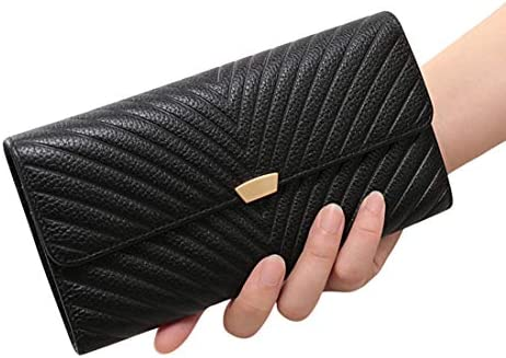 LKJASDHL 彼のガールフレンドを送信するために多色の革の金属の装飾エレガントな財布ディナーバッグ大容量のカードバッグは、携帯電話を入れることができます女性の女性のチェーン小さなスクエアバッグの宴会のハンドバッグ (色 : Black A)