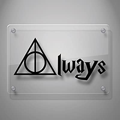 Geekery Deathly Hallows Always Inspired Harry Potter Decal Sticker for Car Window, Laptop and More. # 467 (2