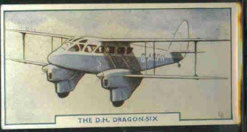 The De Havilland Dragon Six 1938 Godfrey Phillips Cigarettes Aircraft #6 (VG)