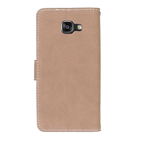 SRY Cartera de cuero de la PU superior con ranura para tarjeta / Stand cubierta de la caja protectora folio del tirón para Samsung Galaxy A7 2016 A710 ( Color : Rose ) Beige