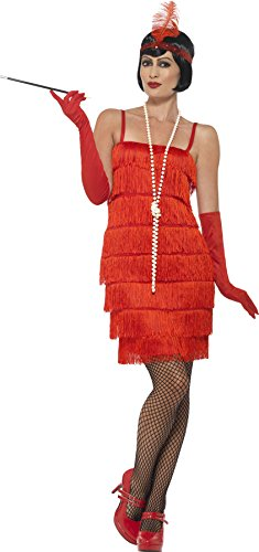 Red Flapper Short Dress Adult / Plus Costume -