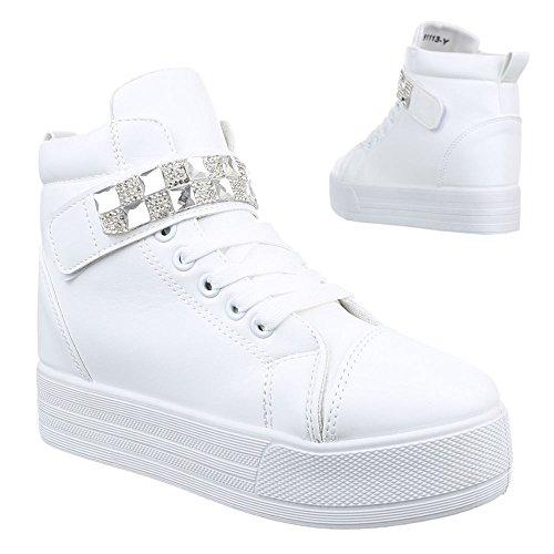 Ital-Design - Zapatillas altas Mujer blanco