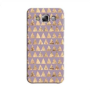 Cover It Up - Brown Violet Triangle Tile Galaxy E7 Hard Case