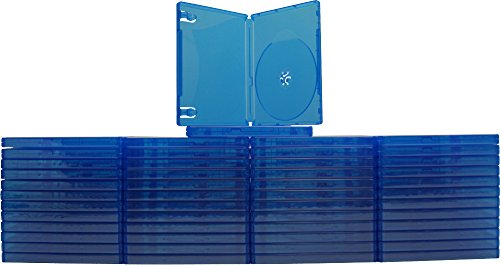 - (50) Blue Playstation 4 Game Cases - 1 Disc Capacity - 14mm - #VGBR14PS4BL