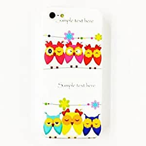 JOEOwls Pattern TPU Soft Case for iPhone 5/5S , Multicolor