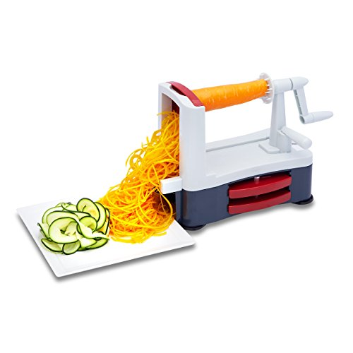 Vegetable Spiralizer - Best Spiral Slicer and Cutter For Making Veggie Pasta, Spaghetti and Zucchini Noodles. Easy Meals - Save Time In The Kitchen With Our Exclusive Healthy Eats Recipe eBook