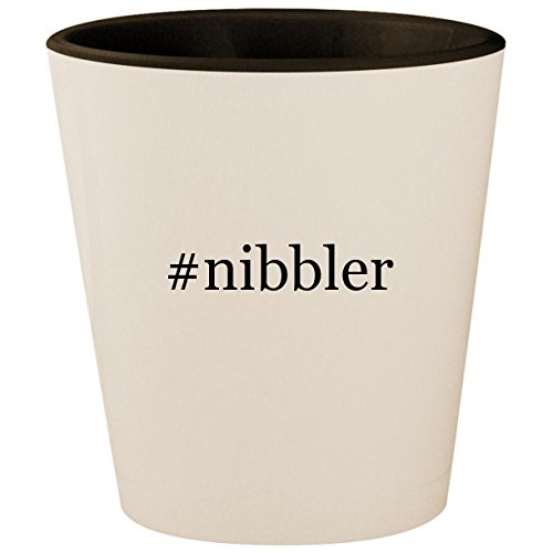 #nibbler - Hashtag White Outer & Black Inner Ceramic 1.5oz Shot Glass