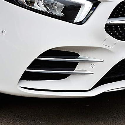 Carbon Fiber Black For A Class W177 AMG Line 2019 2020 Front Fog Light Lamp Cover Decorative Trim 4pcs Car Stytle Accessoies