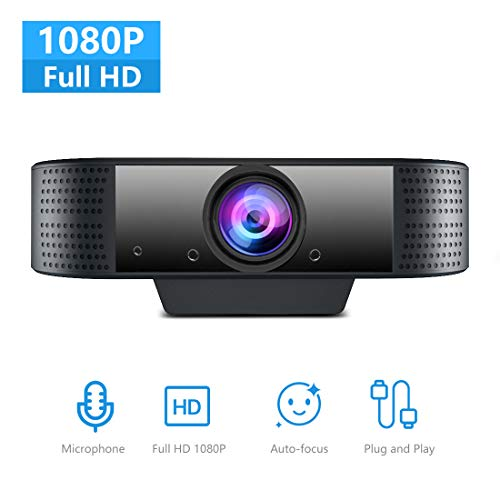 NIYPS Webcam for PC with Microphone, Full HD 1080P Web Cam for MAC/Laptop/Desktop, Plug and Play USB Web Camera,Sreaming…