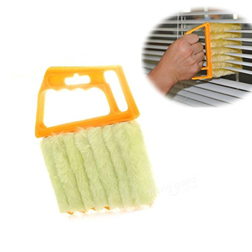 [Free Shipping] Mini 7 Hand Held Microfibre Venetian Blind Brush Window Air Conditioner Duster Dirt Clean Cleaner // Mini 7 mano microfibra celebrada veneciano ventana cepillo ciega aire acondicion