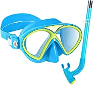 Ahageek 2pcs Diving Goggles, Adjustable Practical with Breathing Tube, Snorkeling Gear for Kids,Swimming Goggl