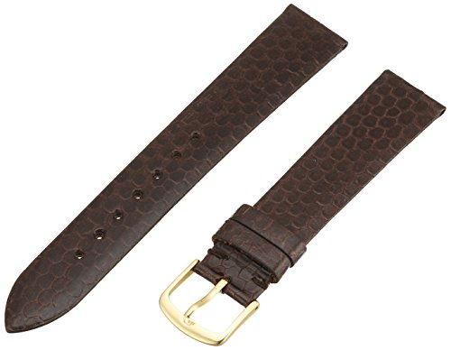 Hadley-Roma Men's MSM705RB-180 18-mm Brown Genuine Water Snakeskin Leather Watch Strap