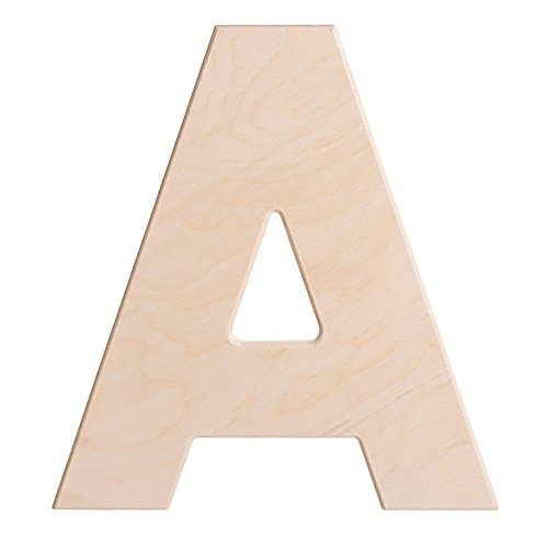 wood letter a - 5