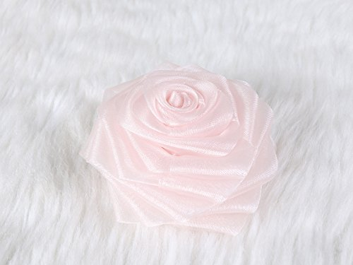 Chiffon Classic rose Hair Clip and Brooch pin (Pebbles Halloween Hair)