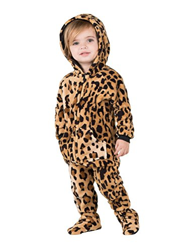 Baby Adult Sweatshirt - Footed Pajamas Family Matching Cheetah Spots Infant Hoodie Chenille - Large