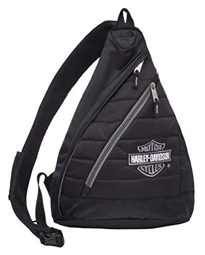 Harley-Davidson Bar & Shield Quilted Travel Large Sling Backpack 90820-SILVER