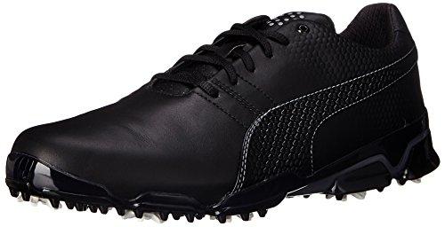 PUMA Men's Titantour Ignite Golf Shoe, White/Surf The Web/Gray, 10 M US