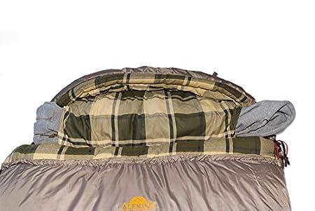 rechteckig 230x100 cm warm ganzj/ährig Deckenschlafsack f/ür Erwachsene und Familien Outdoor Camping im niedrigen Temperaturen bis zu -6 C mit Kompressionsack Alexika Canada Plus Schlafsack bequem
