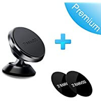 Magnetic Car Mount Holder, RANVOO Universal 360° Rotation Dashboard Phone Holder, Hands Free Phone Stand for iPhone X, 8/8Plus, Samsung S9/S8 and Other Cellphone and Small Tablets