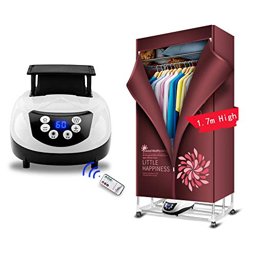 YJDQGYJ Faltbar Wäschetrockner,Tragbar Elektrisch Trockner,Intelligent Fernbedienung Negatives Ion Trocknende Garderobe…