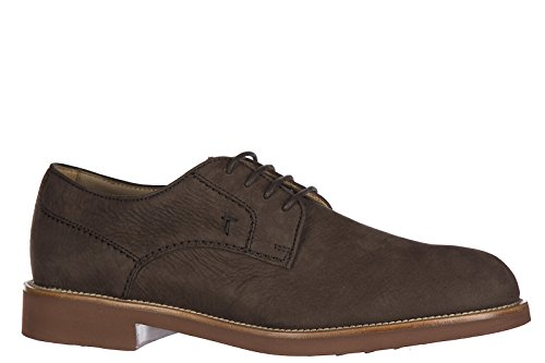 Tods Mens Classique En Cuir Lacets Up Formaled Chaussures Derby Marron Clair