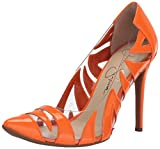 Jessica Simpson Women's PALMRA Pump, neon Orange, 7 M US