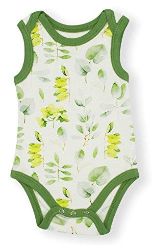 Earthy Organic Baby Sleeveless Bodysuit Boy Girl (8 Sizes: Preemie-24M) 100% Organic Cotton (Preemie, Eucalyptus)