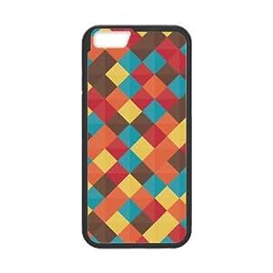 Tt-shop Custom Red Yellow Grid Lattice Pattern For iPhone6 4.7