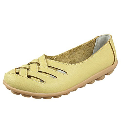 Dear Slip Out Light Women Hollow On Time Green Flats PU rAnR7Ur